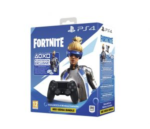 PS4 BUNDLE kontroler DUALSHOCK V2, Black + FORTNITE VCH (2019) 500 VBucks