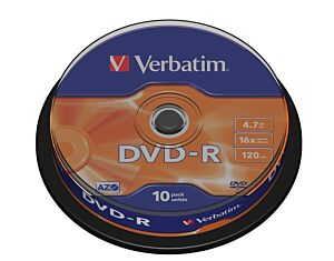 Medij DVD-R VERBATIM 4.7GB 16×