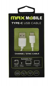 MAXMOBILE Data kabel USB 2.0 TYPE C, Bijela 1 m