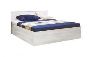 Krevet MIA 6605 Hespo-Skandinavsko bijela/Bijelo uzglavlje-140x200 cm
