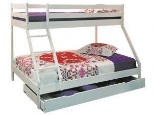 Dječji krevet na kat MAXIM-Bijela