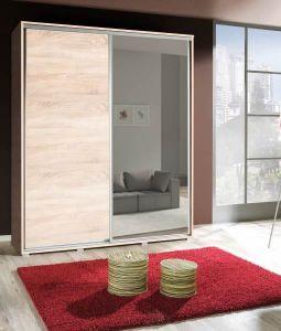 Garderobni ormar GRANDE 204-Sonoma hrast/Ogledalo