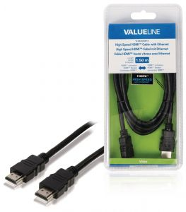 HDMI kabel VALUE LINE VLVB34000B15, 1.5 m