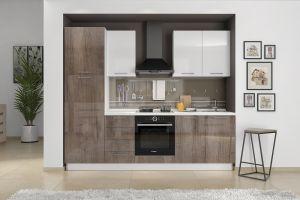 Kuhinjski blok LIRA 255 cm BEŽ/MRAMOR