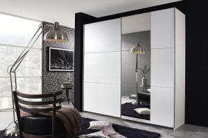 Garderobni ormar KRONACH 175 cm-Bijela / ogledalo