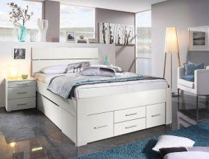 Set krevet CALA + 6 ladica + 2 podnice SULTAN + madrac NATUR FOAM 160 x 200 cm