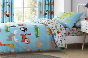 Dječja posteljina ANIMAL ADVENTURE 135X200, Plava