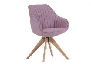 Stolica FLOWER-roza/hrast noge