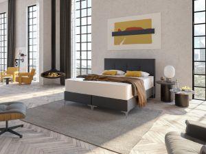 Box krevet MILANO TP5-Tamno siva-90x200 cm