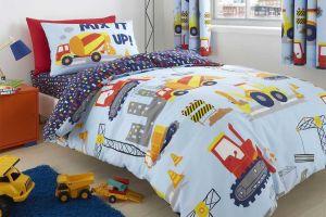 Dječja posteljina CONSTRUCTION 135X200, Plava