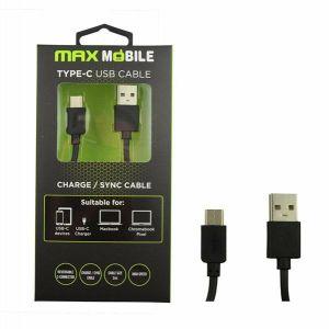 Data kabel MAXMOBILE USB TYPE C, Crni 2 m