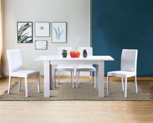 Blagovaonski Set: stol DT + 4 stolice LORA BASIC