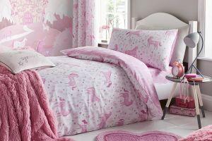 Dječja posteljina UNICORN 135X200, Roza
