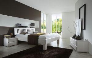 Krevet AVANTGARDE-Bijela/Bukva-140x200 cm