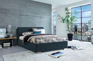 Krevet CARDIFF-Tamno plava-140x200 cm