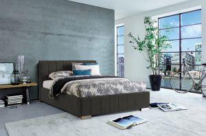 Krevet CARDIFF STORAGE-Tamno siva-140x200 cm