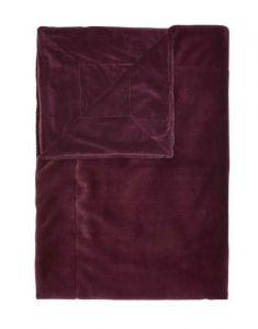 Prekrivač FURRY 150x200-Tamno crvena
