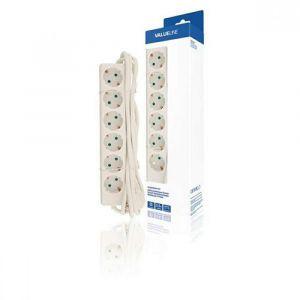 Produžni kabel Value Line VLES630F001WH 6-struka, 3 m, Bijela