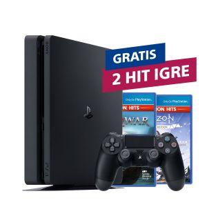 PlayStation 4 500GB F Chassis Black + 2 HIT naslova po izboru