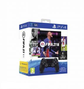 PS4 Sony Dualshock V2 kontroler (Crni) + FIFA 21 + FUT VCH + PS Plus 14 dana