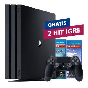 PlayStation 4 Pro 1TB G chassis Black + 2 HIT naslova po izboru