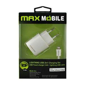 Punjač MAX MOBILE za iPhone 5/6/7 2.4A MFI