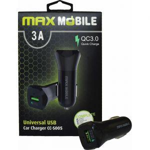 Punjač za auto MAXMOBILE DUO CC-S005 Quick Charge 18W, crna