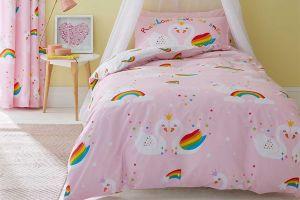 Dječja posteljina RAINBOW SWAN 135X200, Roza