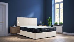 Set Krevet PERLA + Madrac TRIBECA-160x200 cm-Bijela