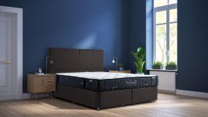 Set Krevet PERLA + Madrac TRIBECA-160x200 cm-Crna