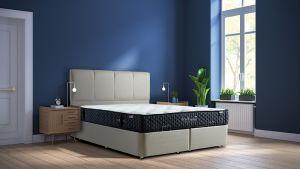 Set Krevet PERLA + Madrac TRIBECA-160x200 cm-Bež