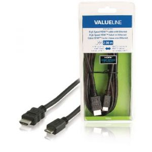 Mini HDMI KABEL VALUE LINE VLVB34500B20 2 m