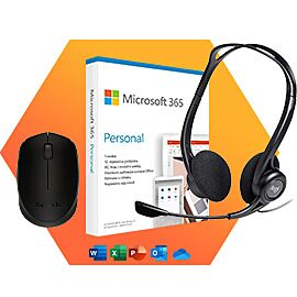 SET LOGITECH MIŠ + SLUŠALICE i MICROSOFT Office 365 EN