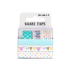 WPS WASHI TAPE PACK BABY, 3 kom/5 m